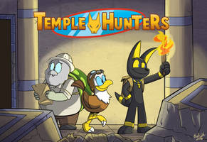 Temple Hunters  Promotional Poster by Jurassiczalar