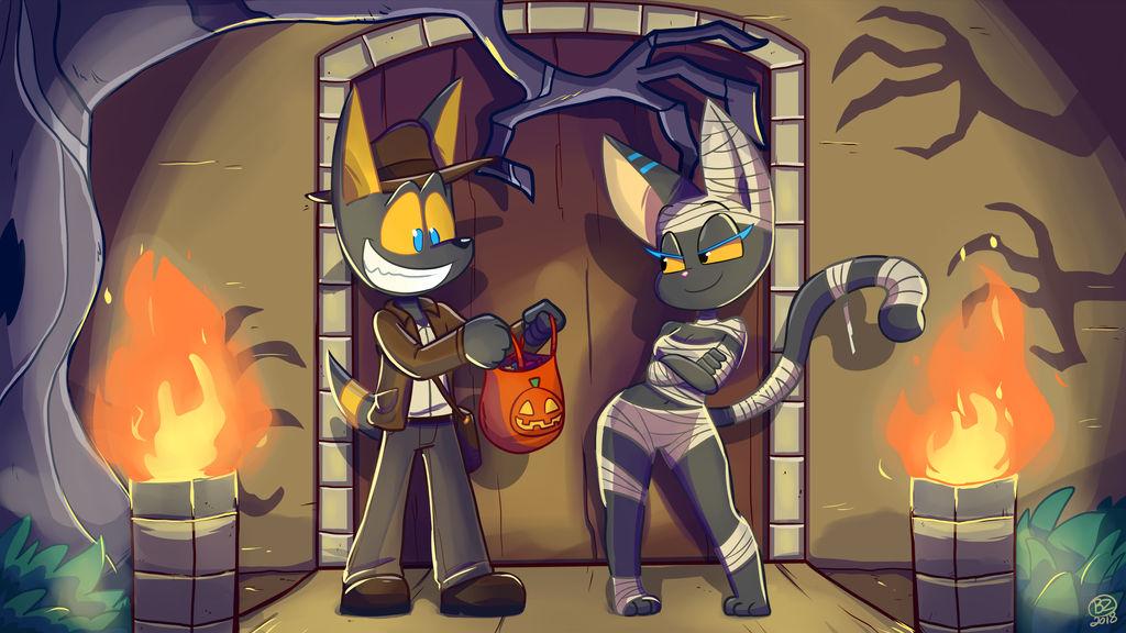 Temple Hunters Halloween by Jurassiczalar