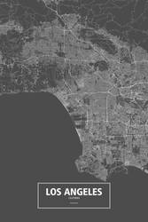 Los Angeles, California (white on black) by rougeux