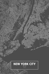 New York City, New York (white on black) by rougeux