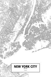 New York City, New York (black on white) by rougeux