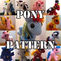 My Little Pony Crochet Amigurumi Pattern by kaerfel