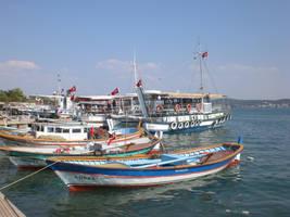 The Boats next to Cunda Island by balacicek