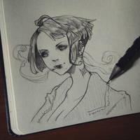 punk - sketch by BUNNYHavoc