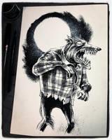 Inktober 2018 Day XII - the Wolf Man by B3NN3TT
