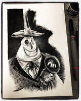 Inktober 2018 Day XXI - Mayor of Halloween Town 2 by B3NN3TT