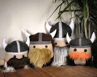 Viking Plushie Party! by Saint-Angel