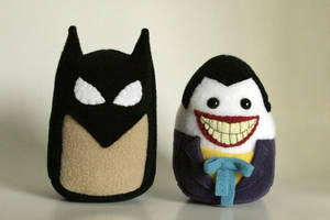Custom Batman and Joker (90s Cartoon) Plushies by Saint-Angel
