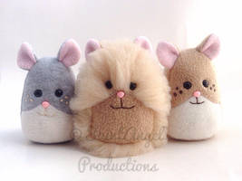 Stuffed Mini Hamster Plushies by Saint-Angel