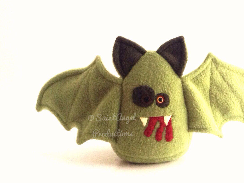 Stuffed Zombie Vampire Bat Plushie By Saint Angel On Deviantart