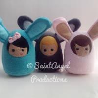 Custom Easter Bunny Rabbit Plush Doll by Saint-Angel