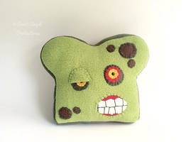 Undead Bread, Stuffed Zombie Toast Plush by Saint-Angel