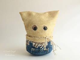 Scary, Hooded Plush, Stuffed Creepy Plushie by Saint-Angel