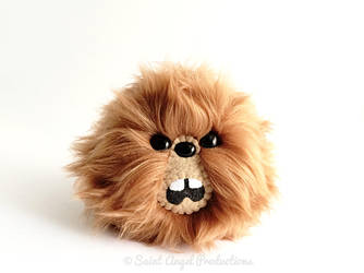 Brown Furry Monster Blob Plush, Handmade Plushie by Saint-Angel