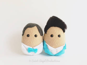 Custom Mini Groom and Groom Wedding Decor by Saint-Angel