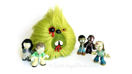 Undead Zombie Monster Blob Plushie by Saint-Angel