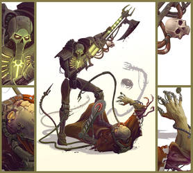 Necron vs Dark Mechanicus by ning