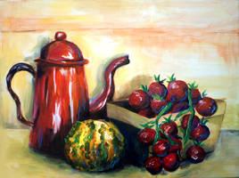 Still life with cherry tomatoes by FuzzyMaro