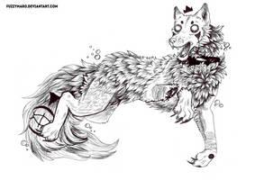 Inktober #3 -Beast by FuzzyMaro