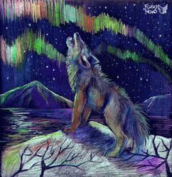 Howling to the sky by FuzzyMaro