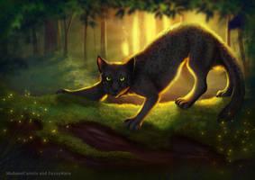 Forest cat by FuzzyMaro