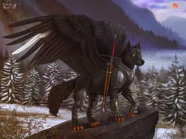 Proud wolf warrior by FuzzyMaro