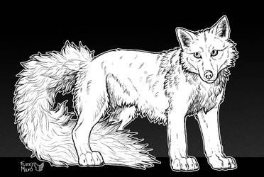 #5- Wolf tail- InkTober 2018 by FuzzyMaro