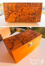 Pyrography box-remember by FuzzyMaro
