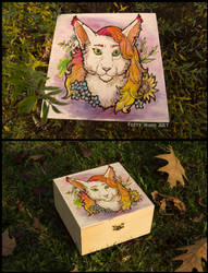 Madame Carotte-Colored pyrography by FuzzyMaro