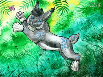 Playful lynx by FuzzyMaro