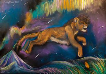 Lion of stars by FuzzyMaro