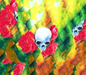 skulls and roses by MloyangDrawlo