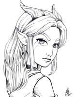 Rayla Sketch by PumpkinRogue