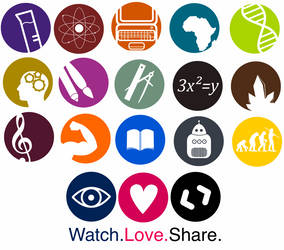 School Subjects Icons-Logos by Art-Acolyte