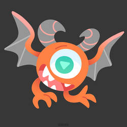 Versy the Eyeball Monster by Versiris