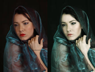 Blue Veil Retouch by pacoelaguadillano