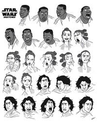 STAR WARS CHARACTERS SKETCHES by GrievousGeneral