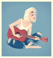 GUITAR GIRL by GrievousGeneral