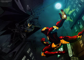 Batman vs Ironman by titan-415