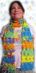 RaggityRainbowCross-OverScarf by aliledesma