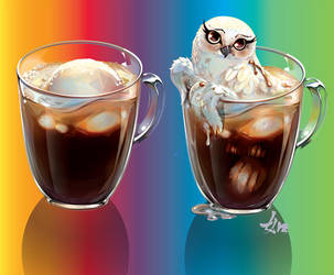 Owl Coffee ice cream by LimKis