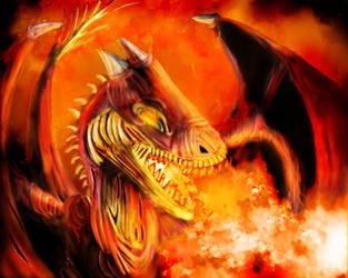 Fire Dragon by OPixeldude