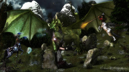 The Dragon Battle by AdamTLS