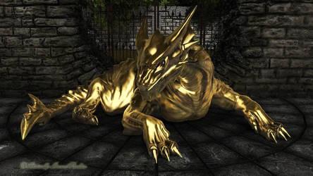 Golden Dragon WIP by AdamTLS