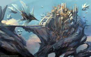 Sky City by EmanuelMardsjo