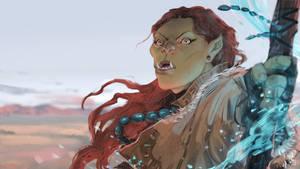 Orc lady by kaiyela