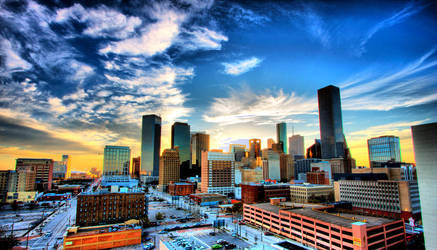 Big H-Town Skyline by texaswxgirl