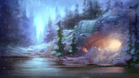 Cold Landscape by MarcoBucci