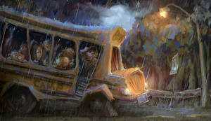 Stranded Bus by MarcoBucci