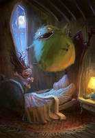 Monster Slumber Party by MarcoBucci